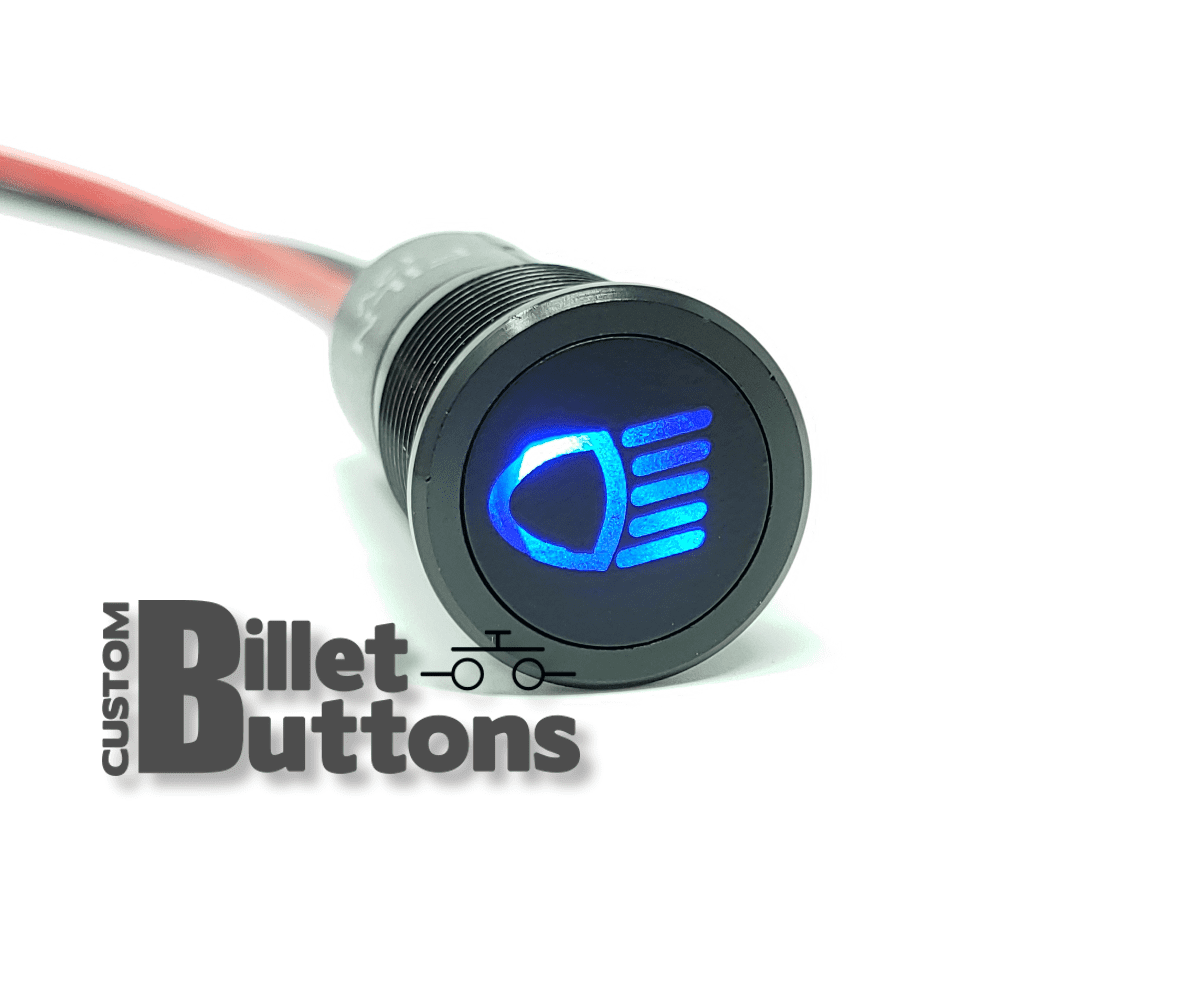 14mm Headlight Led Symbol Pilot Light Custom Billet Buttons Description Diode Circuit Symbolpng Car Dash
