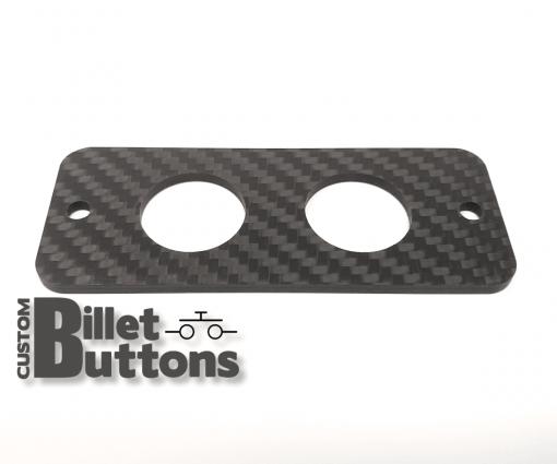 Carbon Fiber Mounting Panel for 19mm Billet Buttons