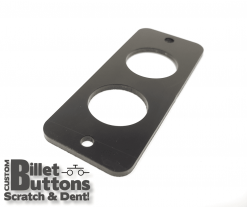 Black Anodized Mounting Panel for 25mm Billet Buttons