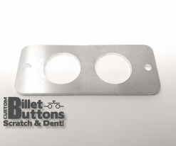 Brushed Aluminum Mounting Panel for 25mm Billet Buttons