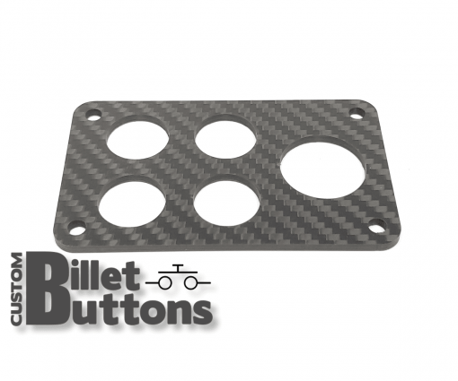 Carbon Fiber Mounting Panel for 19-25mm Billet Buttons