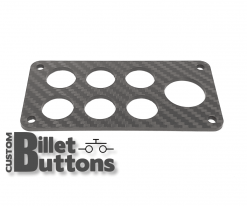 Carbon Fiber Mounting Panel for 19-25mm Billet Buttons