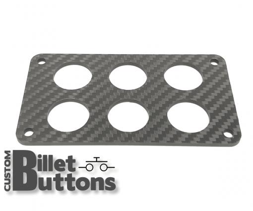Carbon Fiber Mounting Panel for 22mm Billet Buttons