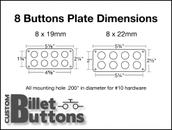 Custom Billet Buttons Mounting Panel Dimensions