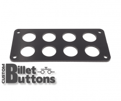 Black Anodized Mounting Panel for 19mm Billet Buttons