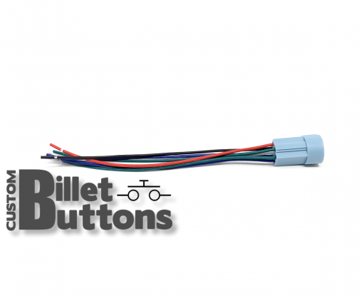 Pigtails Connector for 19-22mm Billet Buttons with RGB LED