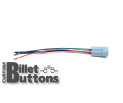 Pigtails Connector for 19-22mm Billet Buttons with LED