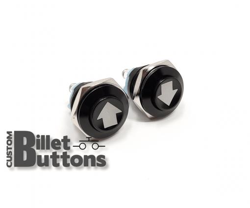 ARROW UP/DOWN 16mm Custom Billet Buttons