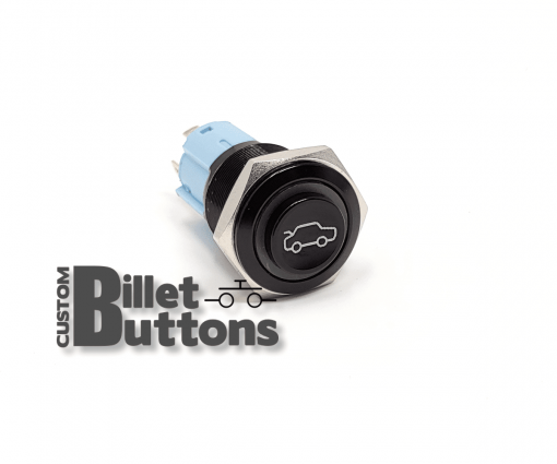 TRUNK POP Symbol 16mm Custom Billet Buttons