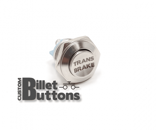 TRANS BRAKE 16mm Custom Billet Buttons
