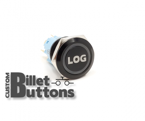 LOG DATALOG 19mm Custom Billet Buttons