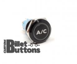 19mm A/C Laser Etched Custom Billet Buttons
