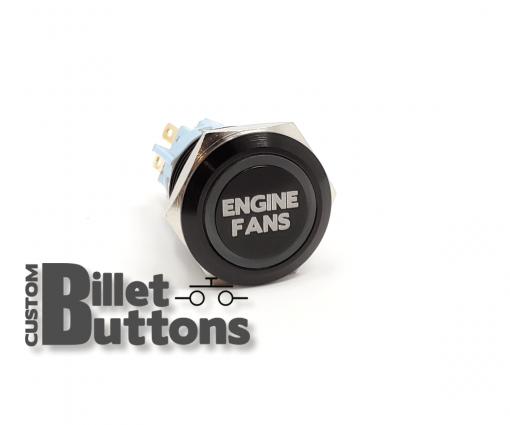 ENGINE FANS 19mm Custom Billet Buttons