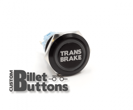 TRANS BRAKE 19mm Custom Billet Buttons
