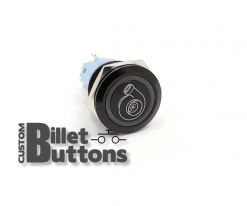 MORE BOOST TURBO SYMBOL 19mm Custom Billet Buttons
