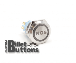 NOS 19mm Custom Billet Buttons