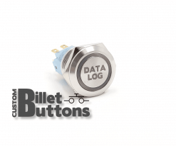 DATA LOG 19mm Custom Billet Buttons