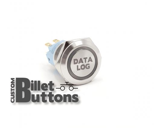 DATA LOG 19mm Custom Billet Buttons