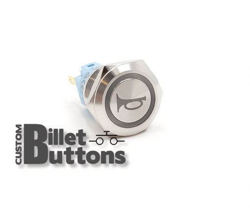 HORN SYMBOL 19mm Custom Billet Buttons