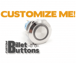 22mm Custom Billet Buttons