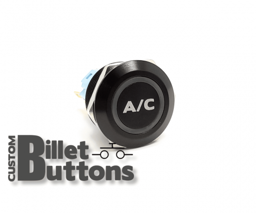 22mm A/C Custom Billet Buttons