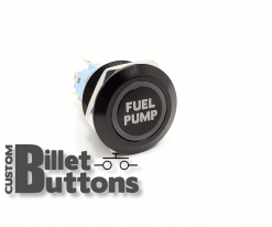 FUEL PUMP 22mm Custom Billet Buttons