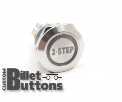 2 STEP 22mm Custom Billet Buttons