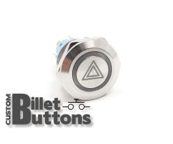 22mm Hazard Symbol Laser Etched Billet Buttons