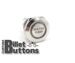 WATER PUMP 22mm Custom Billet Buttons