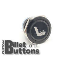 HEATED SEAT SYMBOL 25mm Custom Billet Buttons