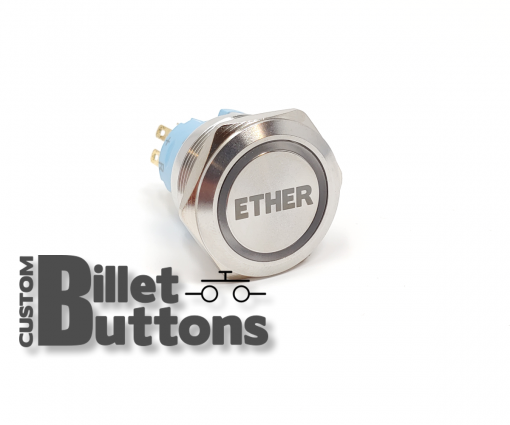 ETHER 25mm Custom Billet Buttons