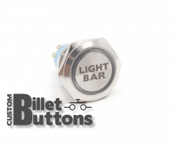 25mm Light Bar Billet Buttons