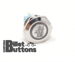 E85 CORN FUEL 22mm Laser Etched Custom Billet Buttons