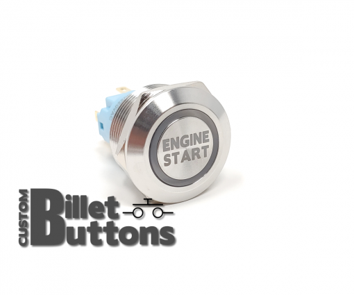 ENGINE START 22mm Laser Etched Custom Billet Buttons