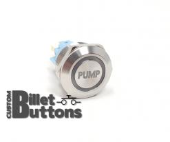 PUMP 22mm Laser Etched Custom Billet Buttons