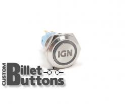 IGN 19mm Laser Etched Billet Buttons