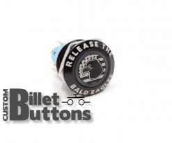 22mm Release The Bald Eagles Laser Etched Billet Buttons