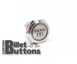 SEND IT 25mm Laser Etched Billet Buttons