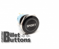 19mm SPORT Laser Etched Billet Buttons