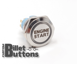 25mm Engine Start Laser Etched Billet Buttons