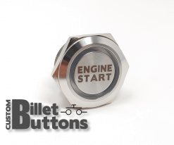 Engine Start 30mm Laser Etched Billet Buttons