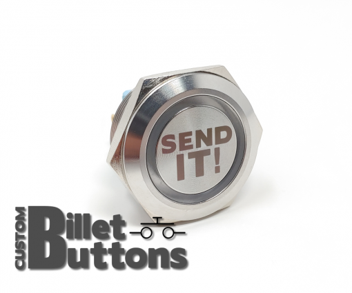 SEND IT 30mm Laser Etched Billet Buttons