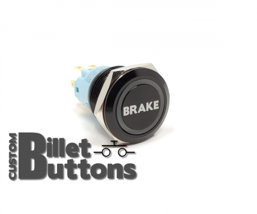 BRAKE 19mm Laser Etched Billet Buttons