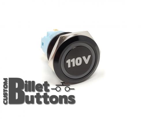 110V 19mm Laser Etched Billet Buttons