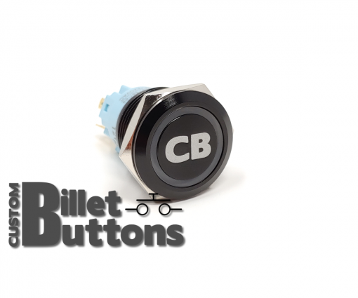 CB 19mm Laser Etched Billet Buttons