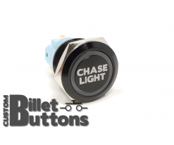 CHASE LIGHT 19mm Laser Etched Billet Buttons