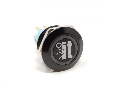 FUCK IT 22mm Laser Etched Billet Buttons