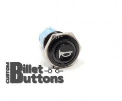 HORN Logo 16mm Laser Etched Billet Buttons