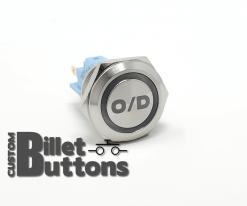 19mm OD OVER DRIVE Laser Etched Custom Billet Buttons