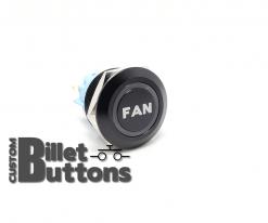 FAN 22mm Laser Etched Custom Billet Buttons